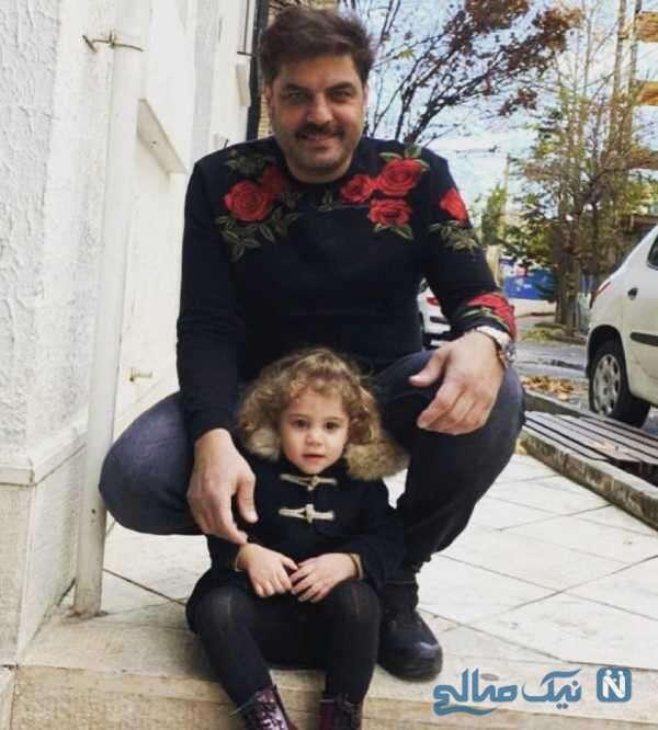 عکس سام درخشانی و دخترش