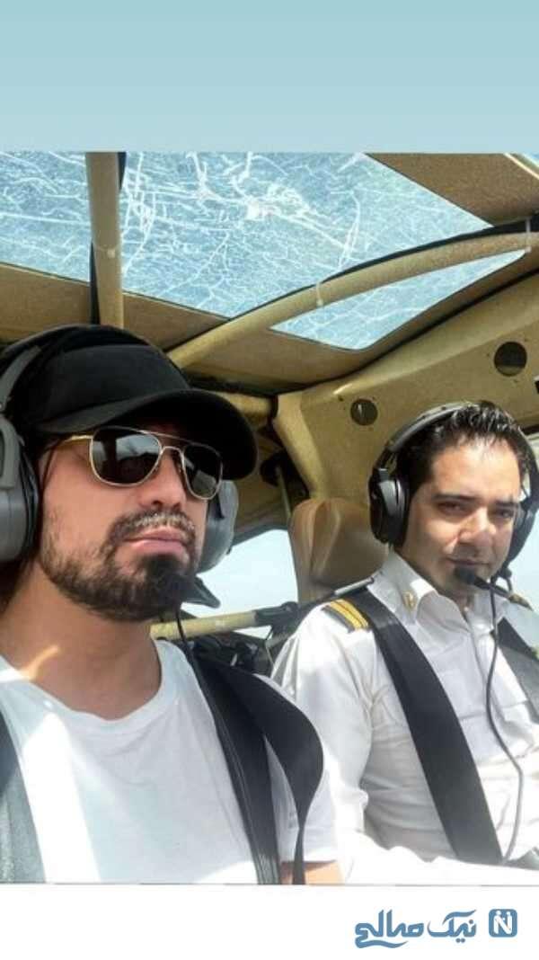 خلبانی امیر عباس گلاب