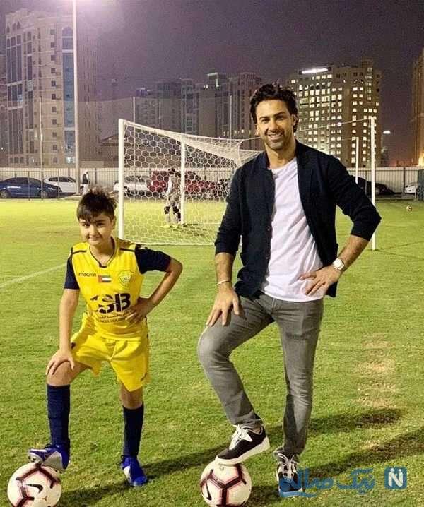 جالب ترین عکس فرهاد مجیدی با پسرش