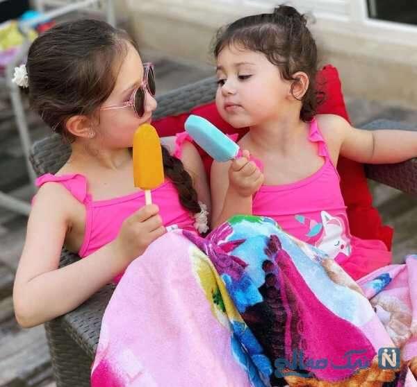 بستنی خوردن دختران شاهرخ استخری