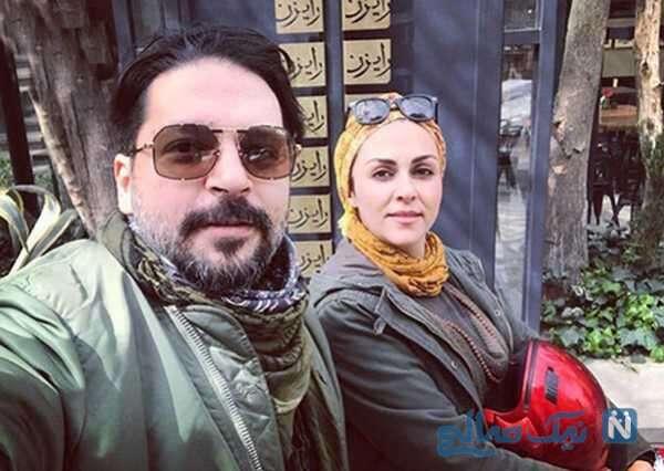 بازیگر شیوا ابراهیمی و همسرش