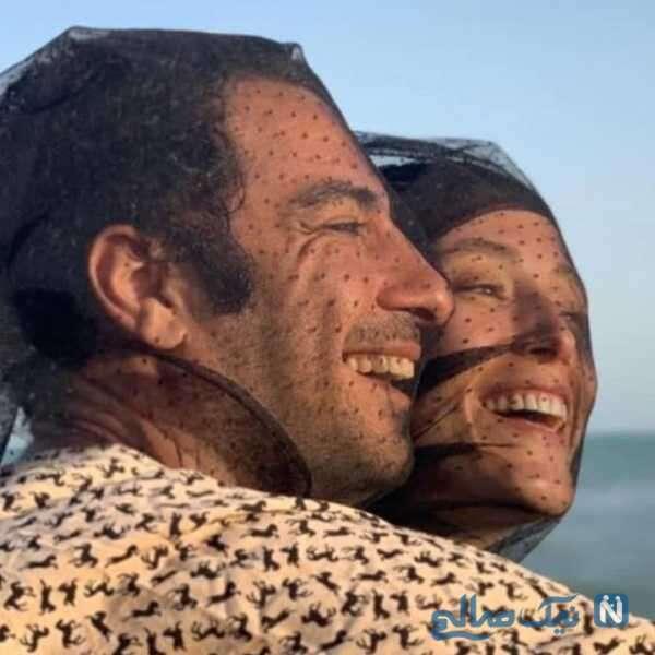 عاشقانه نوید محمدزاده و همسرش