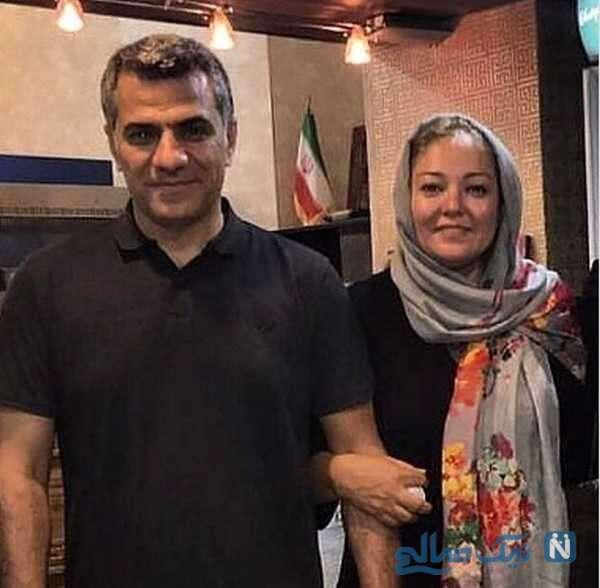 رزیتا غفاری کنار همسرش