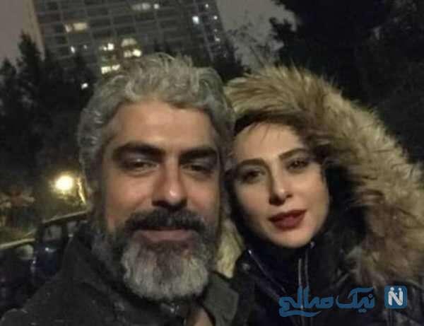عکس سلفی مهدی پاکدل با همسرش
