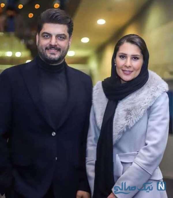 عکس عاشقانه سام درخشانی و همسرش