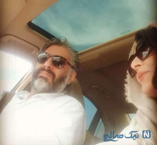 عکس دو نفره ساره بیات و همسرش