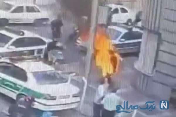 خودسوزی معلم اصفهانی مقابل دادگستری