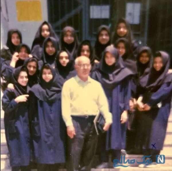 تصویری از شبنم قلی خانی در دوران دبیرستان