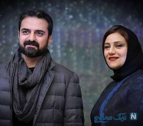 شبنم مقدمی هنرپیشه معروف و همسرش