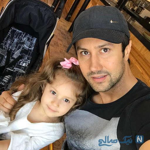 سلفی شاهرخ استخری با دخترش پناه