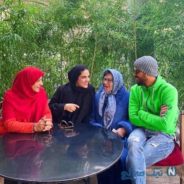 سینا مهراد و مادر بزرگ هایش