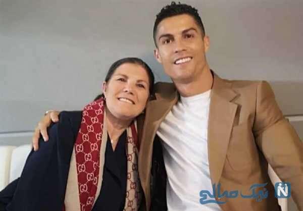 کریس رونالدو ستاره فوتبال و مادرش