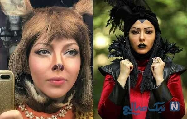 لیلا اوتادی و گریم عجیب بازیگران ایرانی
