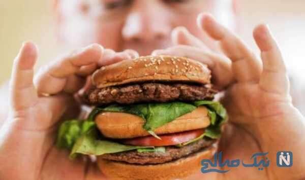 زیان مصرف همبرگر