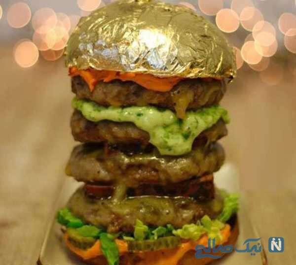 تصویری از گران قیمت ترین همبرگر جهان