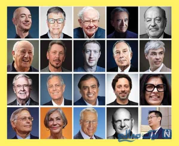 معرفی افراد ثروتمند جهان
