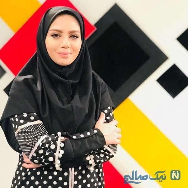 عکس از مبینا نصیری مجری تلویزیون