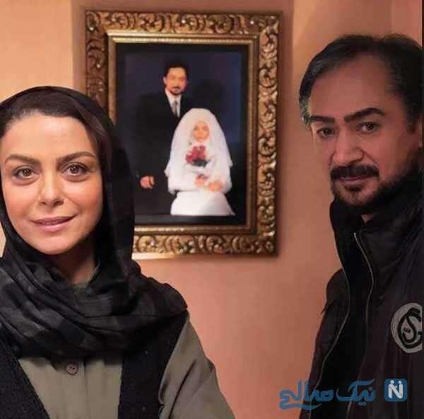 بازیگر زن شبنم فرشادجو در پشت صحنه سریال یاور