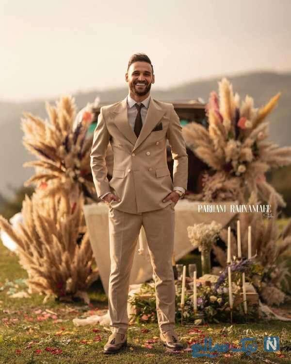 احمد نوراللهی با لباس دامادی