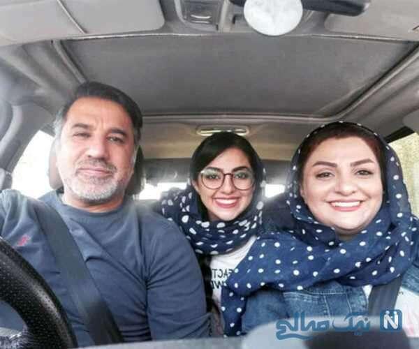 بازیگر معروف کنار همسر و دخترش