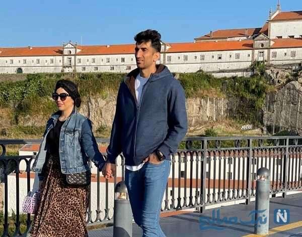 اروپا گردی بیرانوند و همسرش