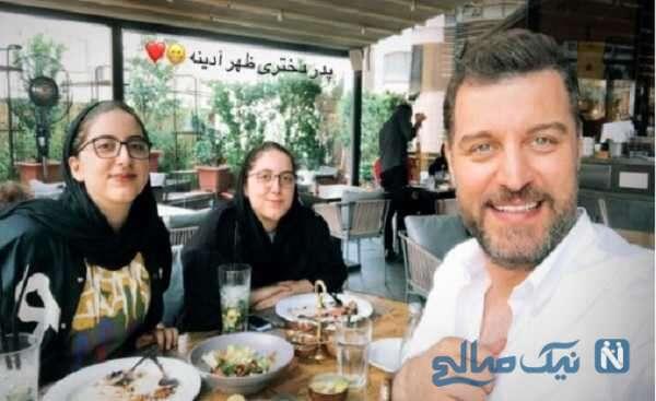 باربد بابایی و دخترانش در کافه