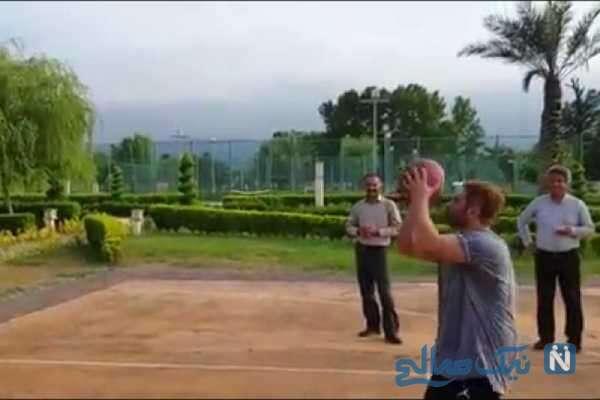 بازی بسکتبال محمدرضا گلزار