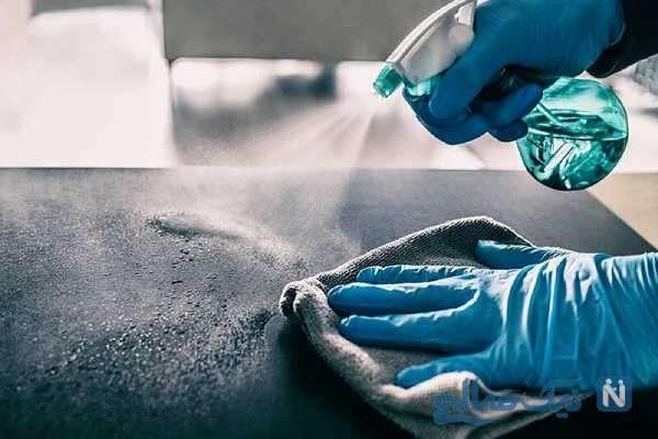 ضدعفونی کردن سطوح برای جلوگیری از انتشار ویروس کرونا
