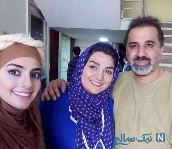 علی سلیمانی کنار خانواده اش