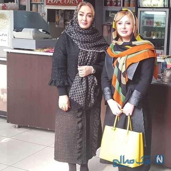 عکس خانم های بازیگر در مرکز خرید