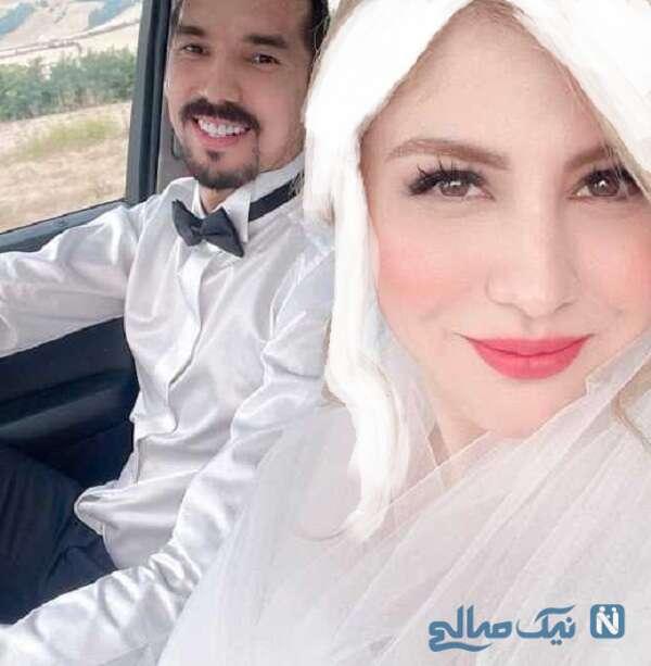 عکس عروسی فرهاد قائمی و زنش