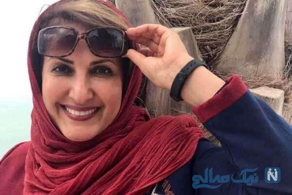فاطمه گودرزی بازیگر سینما در رستوران سنتی و شیک دوست صمیمی اش