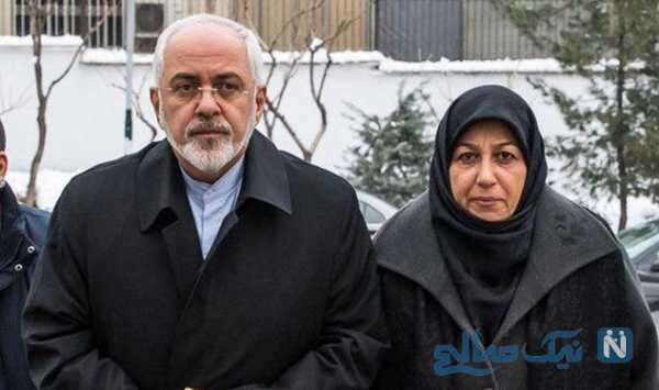 محمدجواد ظریف و همسرش
