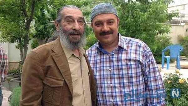 بازیگر ایرانی برزو ارجمند و پدرش