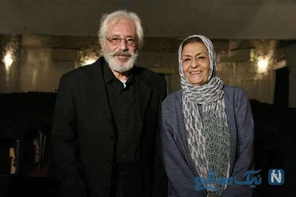 جمشید مشایخی و همسرش