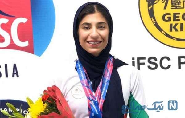 درخشش محیا دارابیان دختر سنگنورد ایرانی در مسابقات جهانی