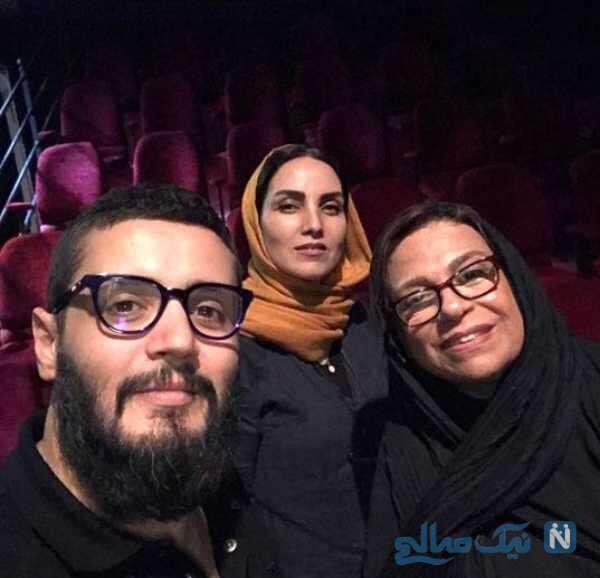 مهران رنجبر کنار خانم های بازیگر