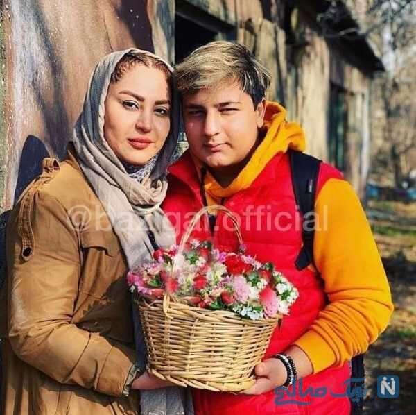 محمدرضا شیرخانلو در کنار مادرش