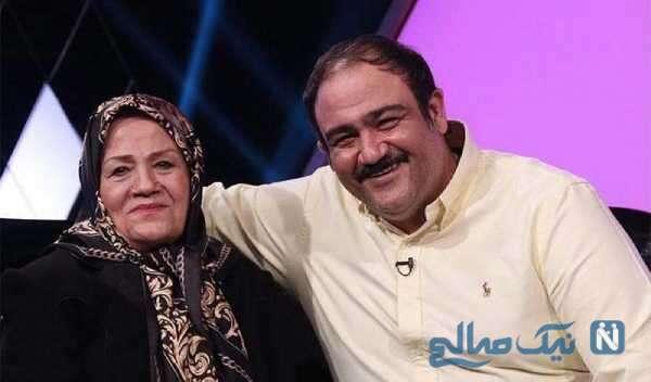 بازیگر مهران غفوریان و مادرش