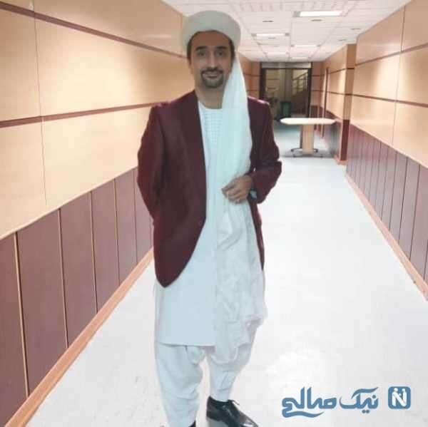 نیما کرمی با لباس بلوچستان