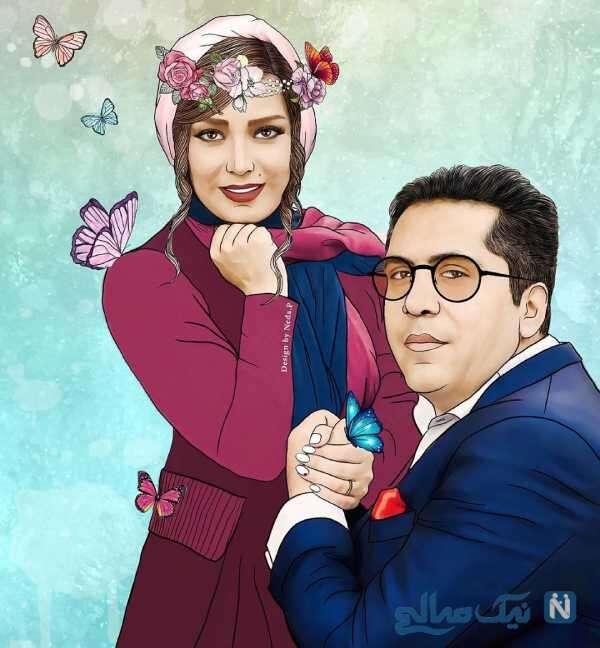 نقاشی صبا راد و همسرش