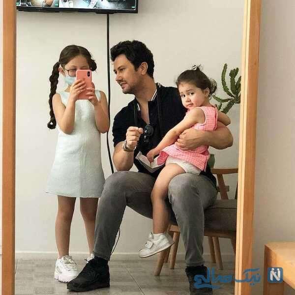 جدیدترین عکس از شاهرخ استخری و دخترانش