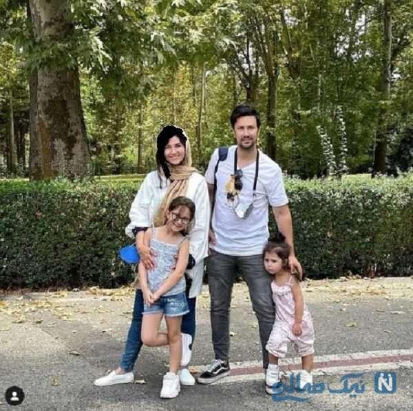 شاهرخ استخری با خواهر و دخترانش در پارک