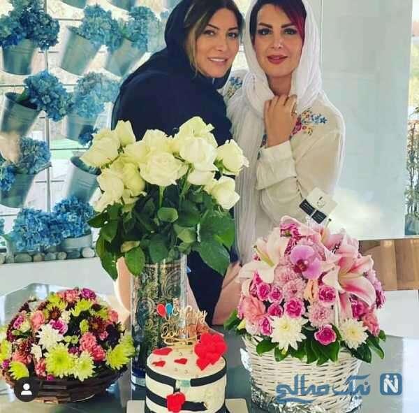 فریبا نادری در جشن تولد خواهرش