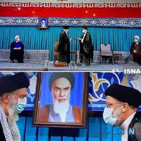 مراسم تنفیذ ریاست جمهوری با حضور رهبر