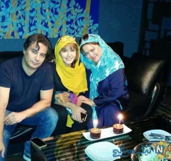 جشن تولد پریا قاسم خانی کنار پدر و مادرش