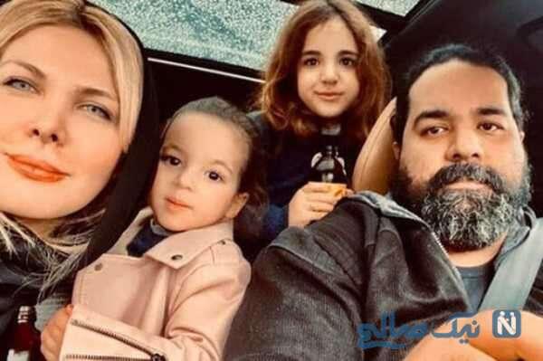 تصویری از رضا صادقی و خانواده اش