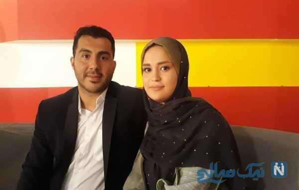 تصویری از سجاد گنج زاده و همسرش