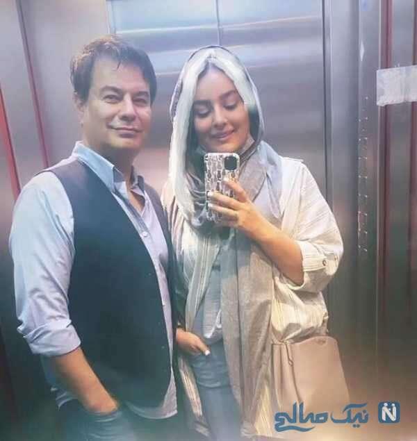 سلفی پیمان قاسم خانی با همسرش