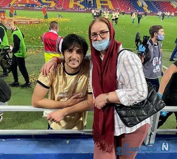 مادر فوتبالیست معروف